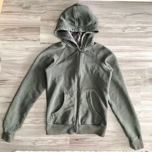 Nike Olive Green Zip-up Hoodie Jacket